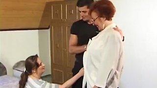 Guy fucks granny and MILF