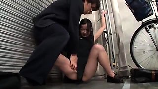Slender Oriental babe with a lovely ass gets banged rough