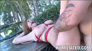 Sara stone - tied and fucked when washed the car