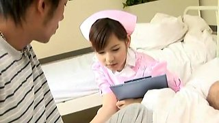 Fabulous Japanese girl Mami Orihara in Crazy Nurse, Threesome JAV clip