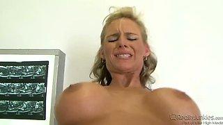 Big Breast Nurses white stockings