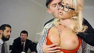 Secretary Christina Shine Gets Freaky With Her Boss