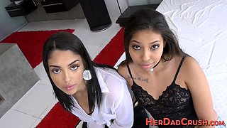 Latina stepteens jizzed