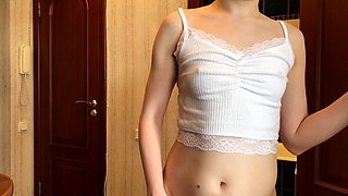 Petite Oriental babe has fun with two muscled guys on webcam