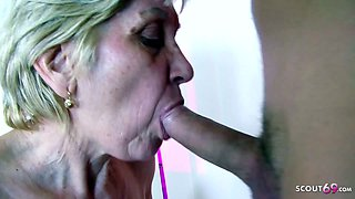 78yr old Granny Gabi have Sex with Big Dick Young Boy