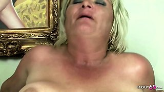 Hairy Fat Mature Grandma Gabi Seduce to Fuck by Young Guy