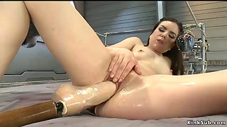 Wet cunt stuffed with dicks and machines