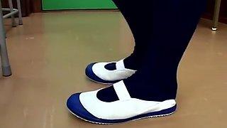 Rubber school shoes: uwabaki worship