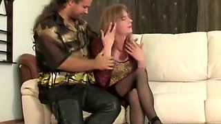 Simatra Vintage Crossdresser Timid Fuck With Friend